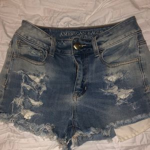 American Eagle Outfitters High Rise Denim Short
